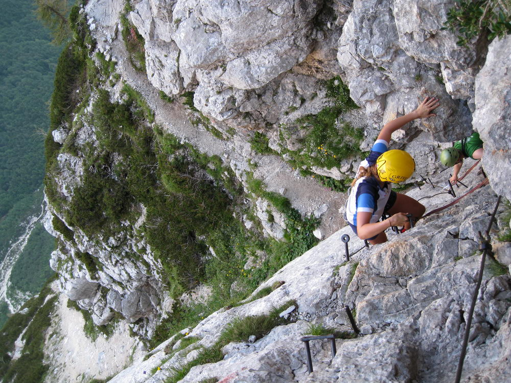 Em + Cris climbing again (Triglav Nat. Park, Slovenia)