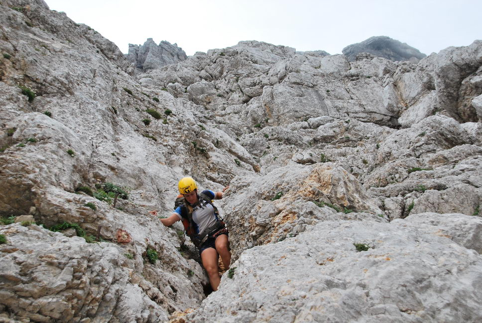 Emily descending (Triglav Nat. Park, Slovenia)