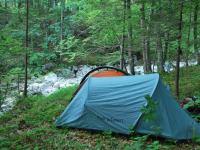 Camping near river (Triglav Nat. Park, Slovenia)