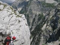 Chris descending (Triglav Nat. Park, Slovenia)