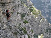 Chris + Em on ledge (Triglav NP, Slovenia)