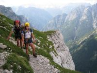 Chris + Em on route (Triglav Nat. Park, Slovenia)