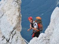 Chris on ridge (Triglav Nat. Park, Slovenia)