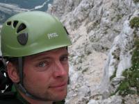 Cris and view down valley (Triglav Nat. Park, Slovenia)