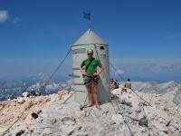 Cris at the top (Triglav Nat. Park, Slovenia)