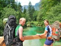 Cris + Em and delicious river (Triglav Nat. Park, Slovenia)