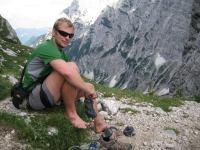 Cris on saddle (Triglav Nat. Park, Slovenia)