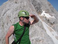 Cris searching in posey manner (Triglav Nat. Park, Slovenia)