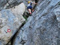 Em + Chris climbing 2 (Triglav Nat. Park, Slovenia)