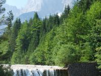 Waterfall and mountains (Triglav Nat. Park, Slovenia)