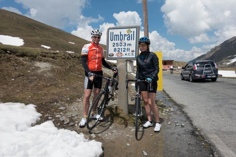 At Umbrail Pass (Ride up Stelvio Pass, Italy 2015)