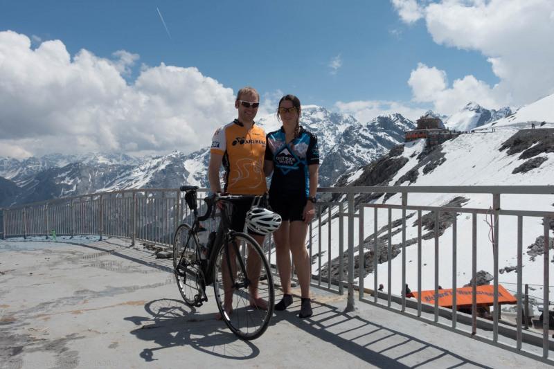 At the pass 2 (Ride up Stelvio Pass, Italy 2015)