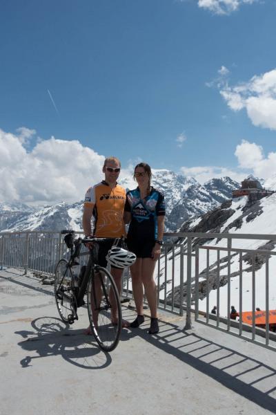 At the pass 3 (Ride up Stelvio Pass, Italy 2015)