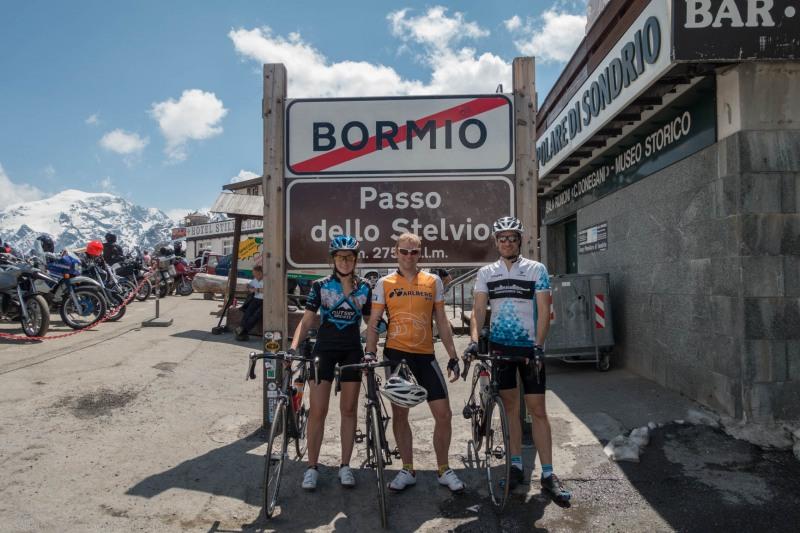 At the pass (Ride up Stelvio Pass, Italy 2015)