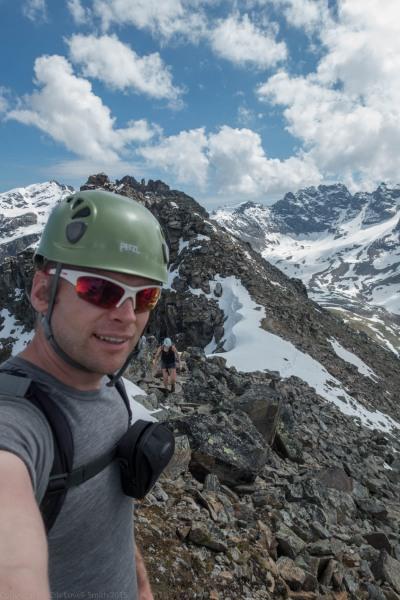 At the summit (Düsseldorfer Hütte Tramp)