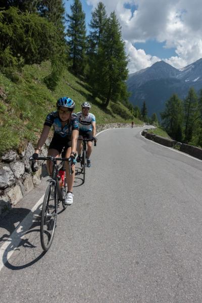 Heading up (Ride up Stelvio Pass, Italy 2015)