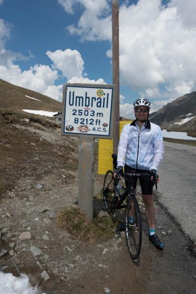 Markus at Umbrail Pass (Ride up Stelvio Pass, Italy 2015)
