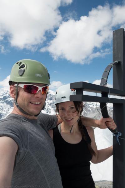 Us at the summit (Düsseldorfer Hütte Tramp)