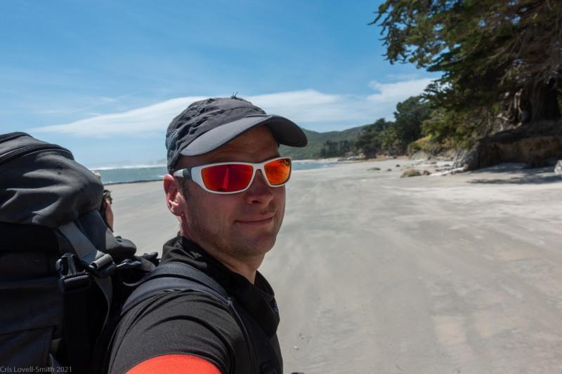 Cris on the beach (Kahurangi Point Jan 2021)