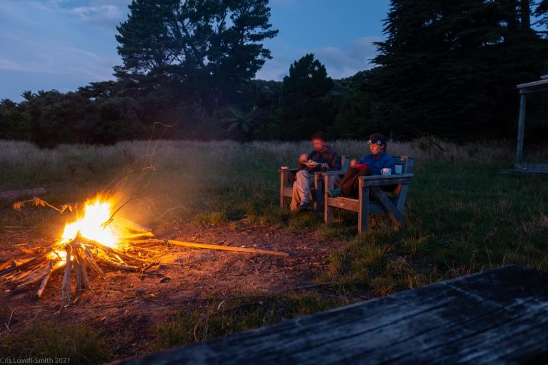 Dinner by the fire (Kahurangi Point Jan 2021)
