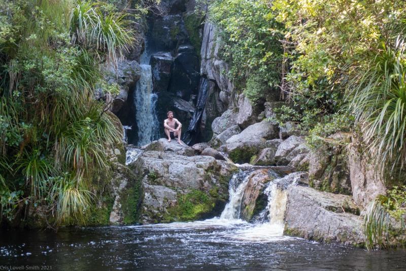 Taking a dip (Kahurangi Point Jan 2021)