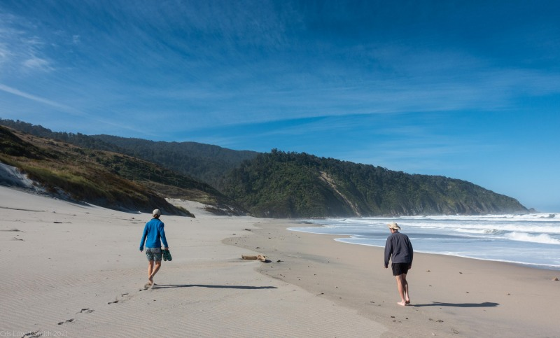 Walking along the beach (Kahurangi Point Jan 2021)