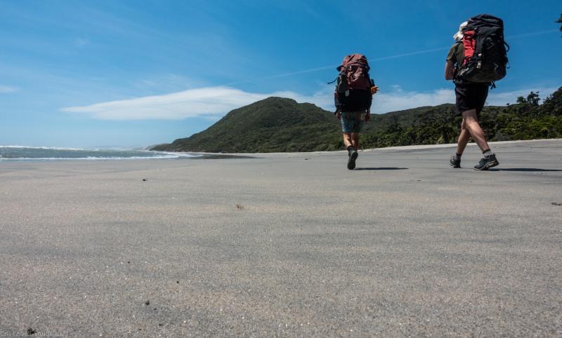 Walking back (Kahurangi Point Jan 2021)