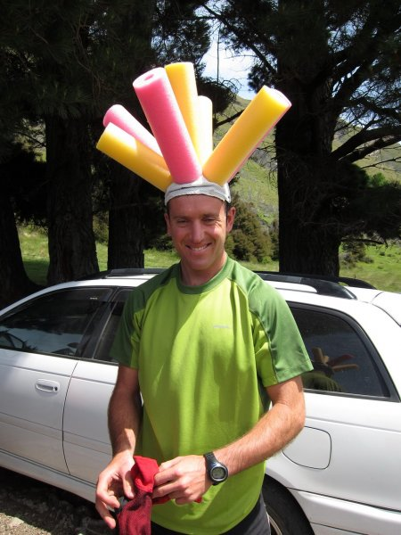 Chris with a silly hat (30th Birthday Bash)