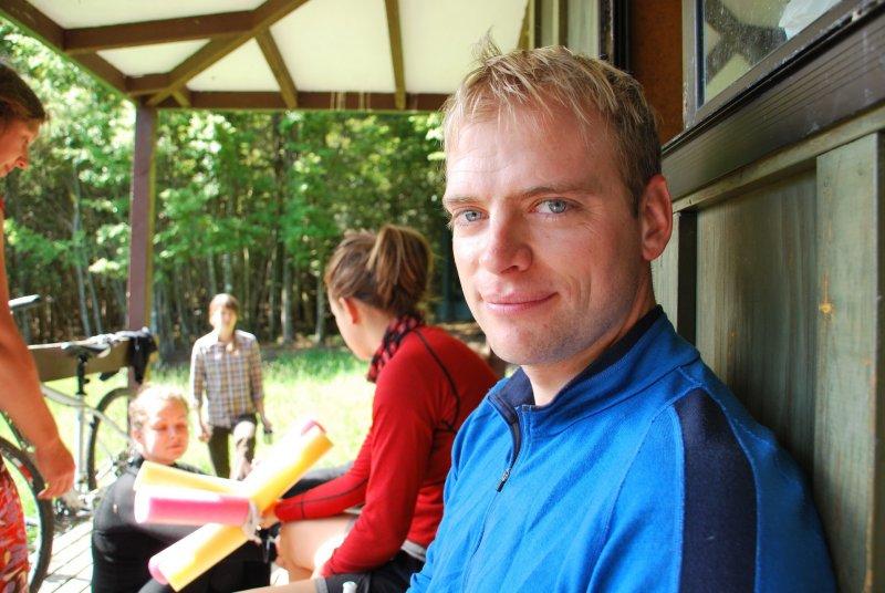 Cris at Hurunui Hut (30th Birthday Bash)