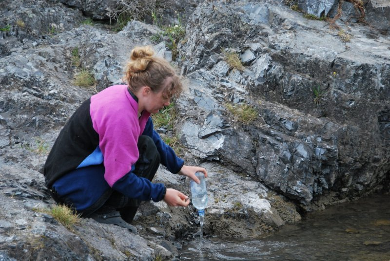 Gina filling up the river at Jolly Brook (30th Birthday Bash)