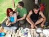 Eating breakfast at Hurunui Hut (30th Birthday Bash)