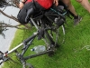 Gina sorting out her bike (30th Birthday Bash)