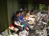 Sitting at breakfast (30th Birthday Bash)