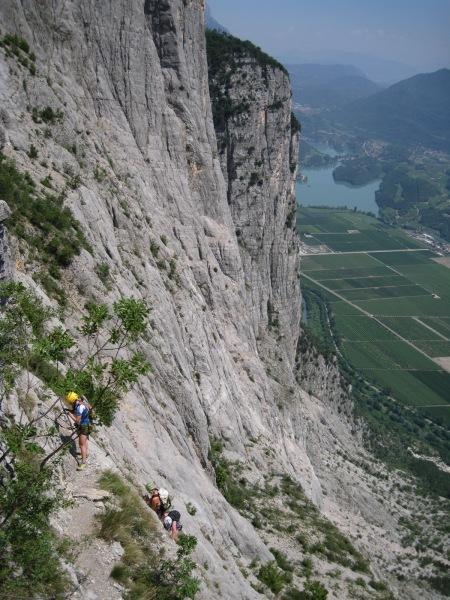 Climbing the cliffs (Lago di Garda, Italy)