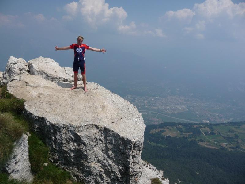 Cris at the top of Monte Stivo (Lago di Garda, Italy)