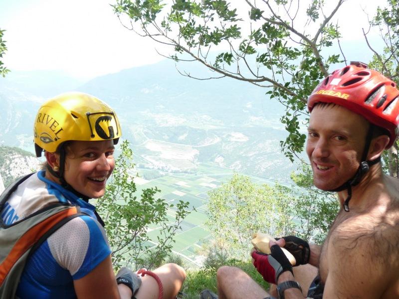 Emily and Chris having lunch (Lago di Garda, Italy)