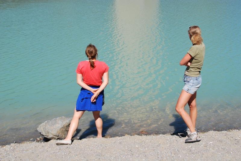 Emily and Frauke (Reschenpass, Italy)