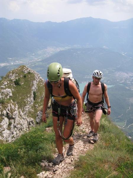 Finishing the klettersteig 2 (Lago di Garda, Italy)