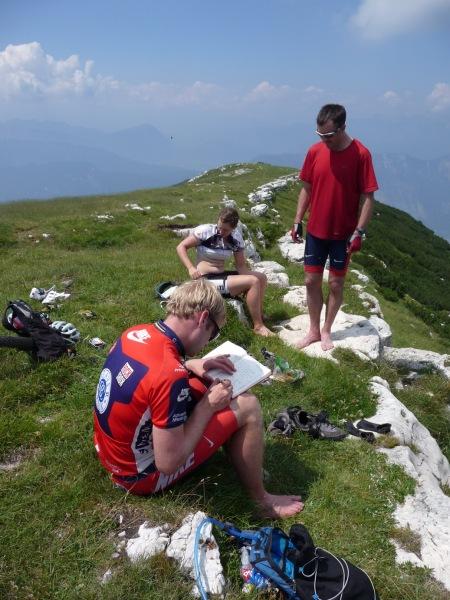 Hanging around at the top of Monte Stivo (Lago di Garda, Italy)
