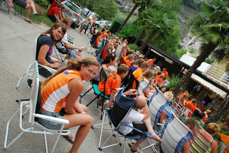 Holland plays in the football final (Lago di Garda)