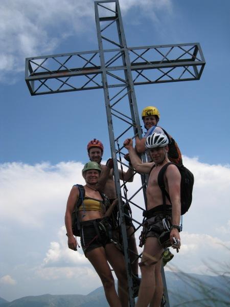 On the cross at the top (Lago di Garda, Italy)