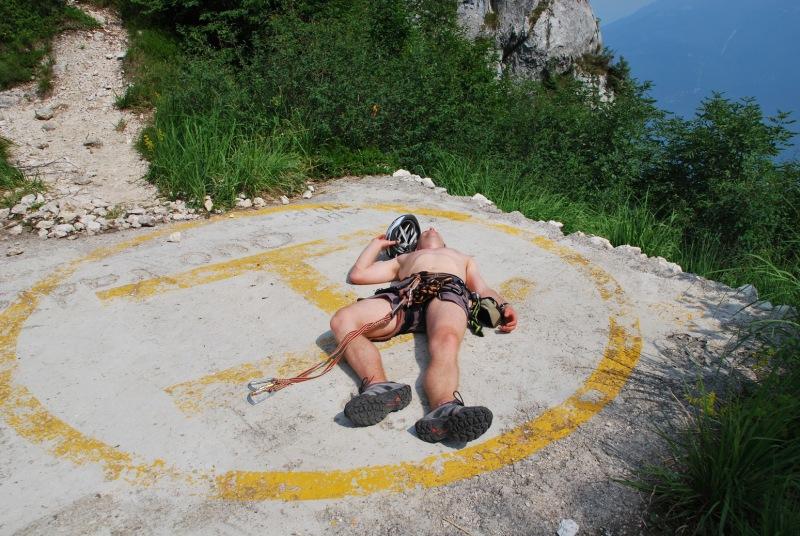 Quick call the rescue helicoptor (Lago di Garda)