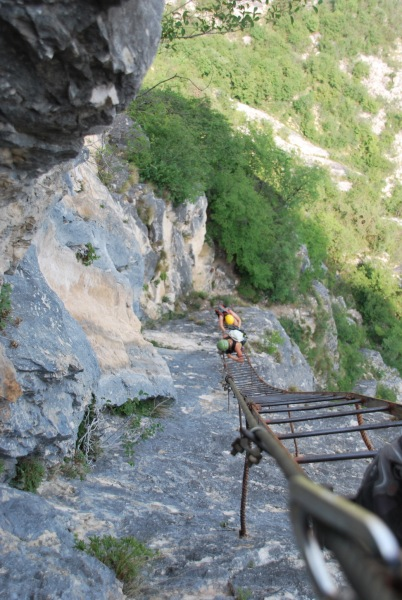 View down the ladder (Lago di Garda)