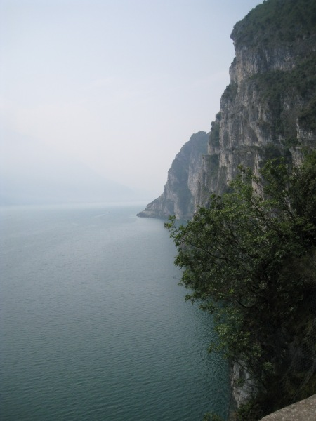View down the lake from the cliffs (Lago di Garda, Italy)