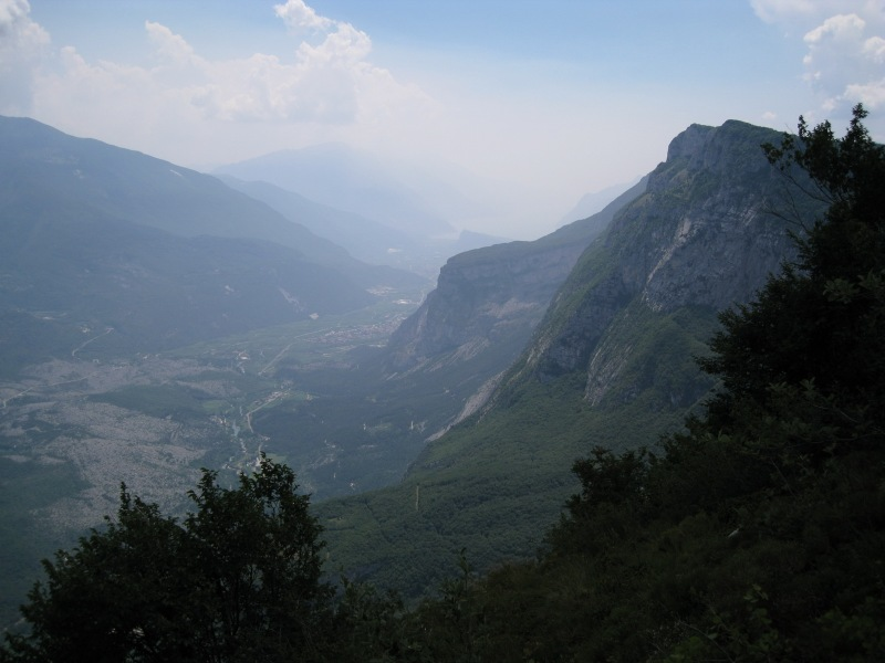 View from klettersteig down valley (Lago di Garda, Italy)