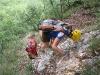 Chris and Emily descending (Lago di Garda, Italy)
