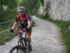 Cris on big climb (Lago di Garda, Italy)