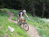 Emily on little track (Lago di Garda, Italy)