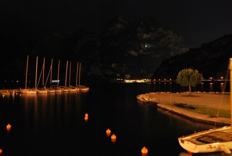 View of boats at night 2 (Lago di Garda)