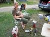 Cris in the camp ground (Lago di Garda)